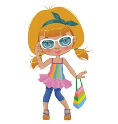 A girl in glasses vector image vector image