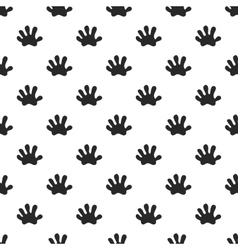 Animal paw seamless pattern vector