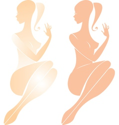 Beautiful nude female figure vector image vector image