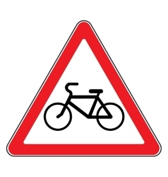 bicycle sign in white background vector image