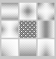 Black and white abstract square pattern set vector