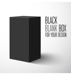 Black blank box vector