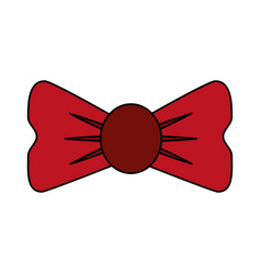 bowtie accessory icon image vector image