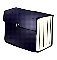 Comic cartoon business files vector