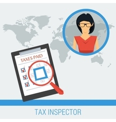 Concept work of tax inspector vector image