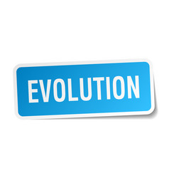 Evolution square sticker on white vector