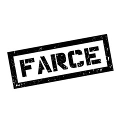 Farce rubber stamp vector