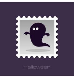 Halloween ghost stamp vector