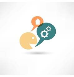 House gear icon vector image vector image