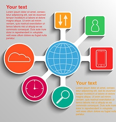 Infographic communication network connection vector image