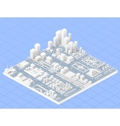 Large modern city vector image vector image