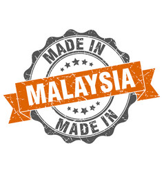 Made in malaysia round seal vector