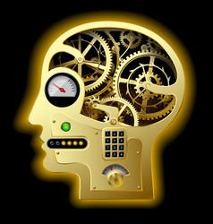 Mechanical head vector image