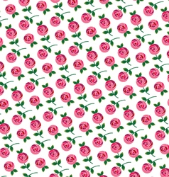 Mod rose allover pattern vector