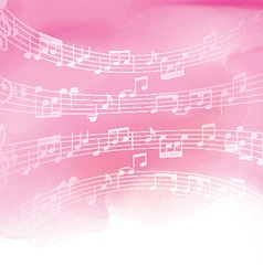 Music notes on watercolor background 1606 vector