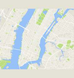 new york and manhattan urban city map vector image vector image