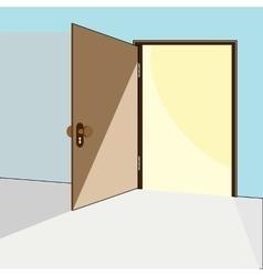 Opened door concept vector