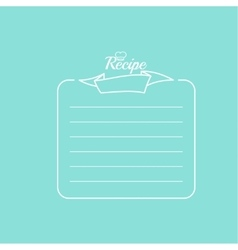 Recipe card with banner vector