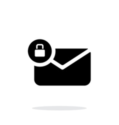 Secure mail icon on white background vector image vector image
