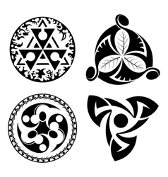 set of black design elements - logotypes vector image vector image