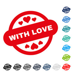 with love stamp seal icon vector image vector image