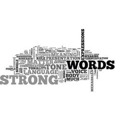 Words matter text word cloud concept vector