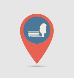 map pin park vector image