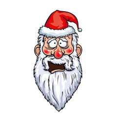 Santa claus cowardly head vector