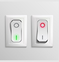 toggle switch  plastic switches with on vector image
