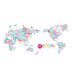 Social network map background infographics vector