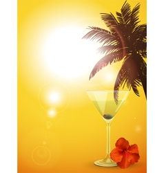 summer cocktail background portrait vector image