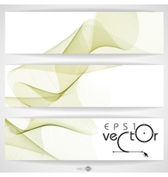Abstract waves design vector