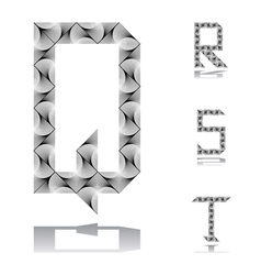 Design abc letters from q to t vector