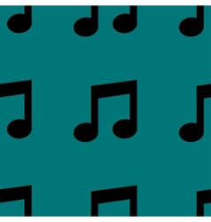 Music note web icon flat design seamless pattern vector