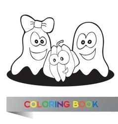Coloring book halloween vector