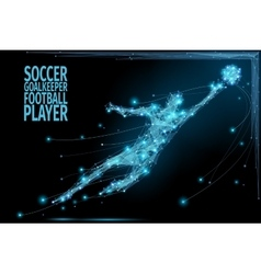 Goalkeeper poly soccer vector