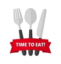 emblem cutlery vector image