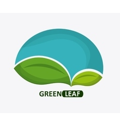 Green design leaf icon white background graphic vector