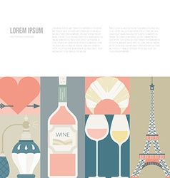 French symbols vector