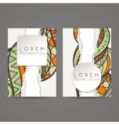A set of two designs for brochures leaflets vector