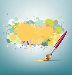 Abstract colorful ink and paint brush background vector image
