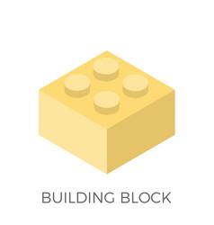 building block icon vector image