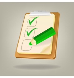 Checklist with a pencil vector
