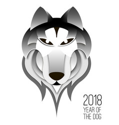 chinese 2018 dog symbol vector image vector image
