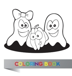 Coloring book Halloween vector image
