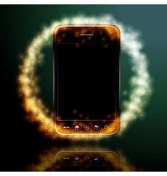 Digital mobile phone vector image vector image