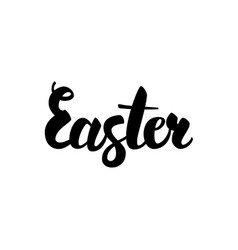 Easter handwritten lettering vector