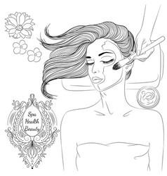 Face mask line art vector