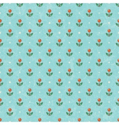 Floral baby wallpaper EPS10 vector image
