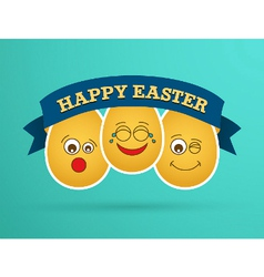 Funny easter egg friends vector